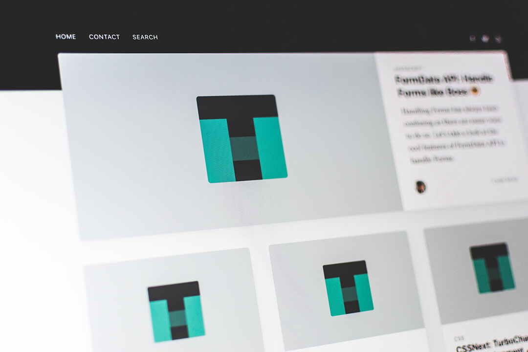 Working mockup of a website layout