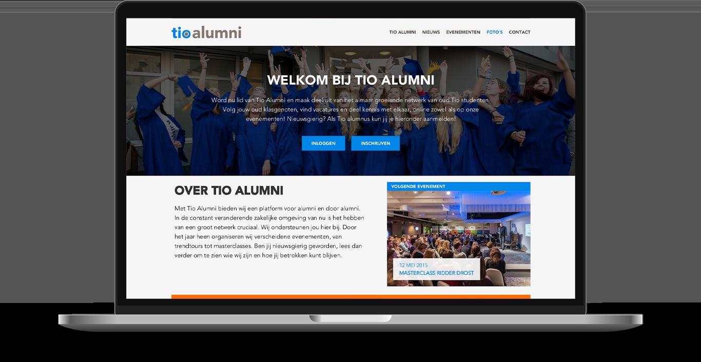 Impression of the design for Drupal social intranet platform for Tio university