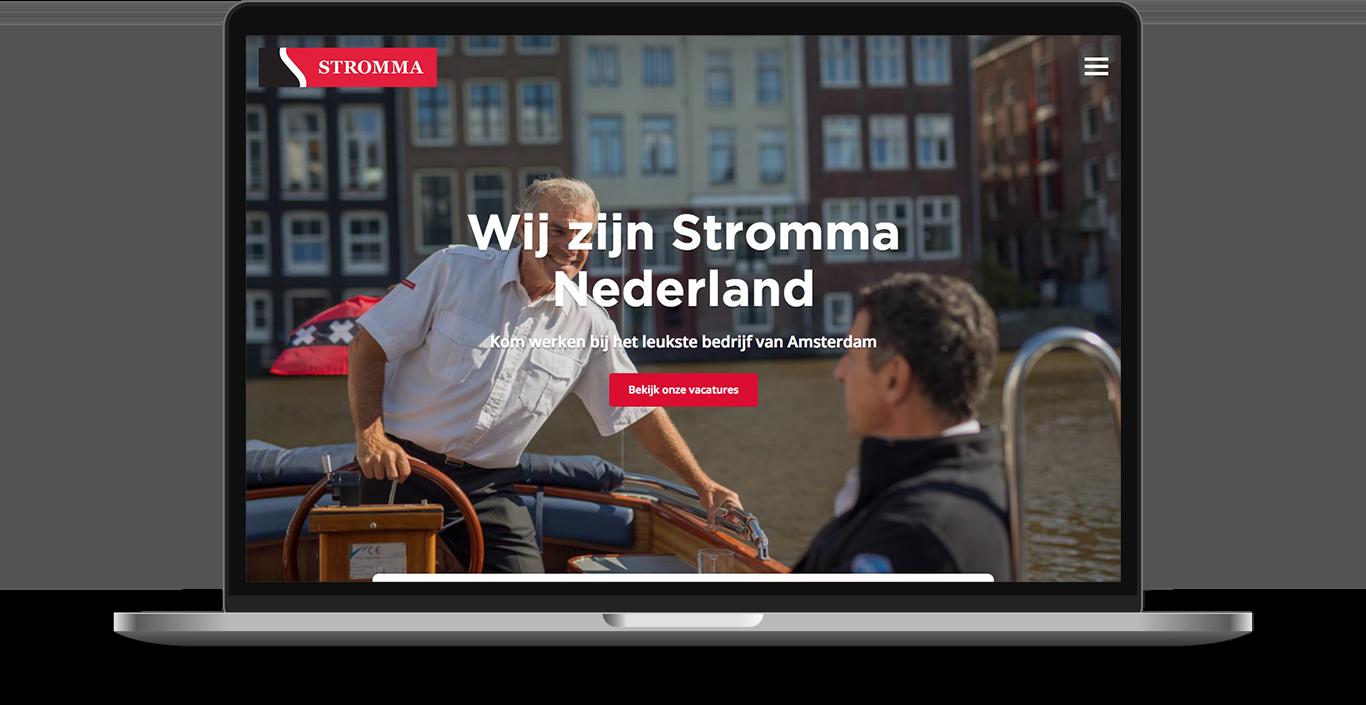 Recruitment website design for Stromma Netherlands, developed in Drupal